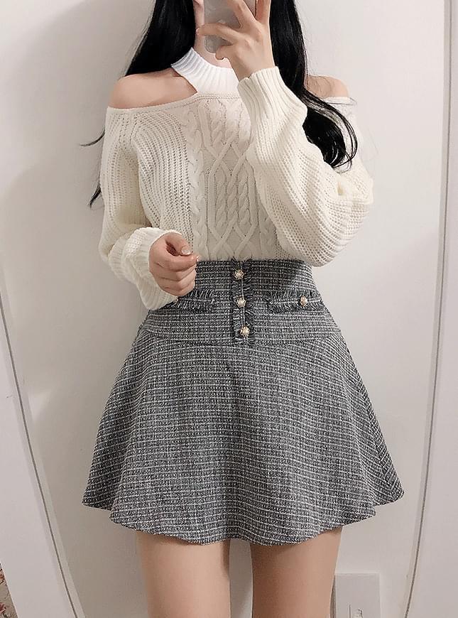 Tweet FlowerPearl Skirt Pants