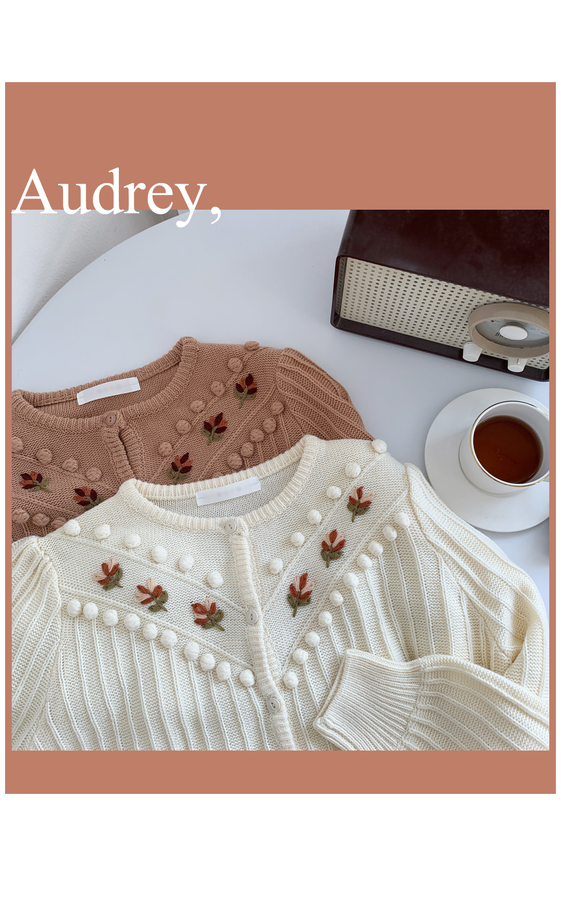 Audrey embroidered crop cardigan