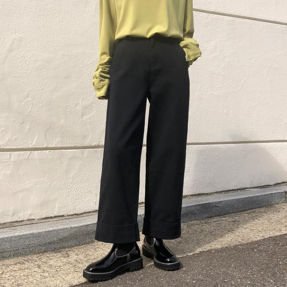 Roll Up Wide Pants