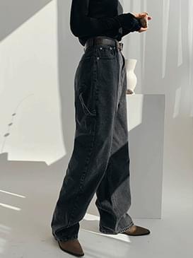 Wide Touch Denim Long Pants