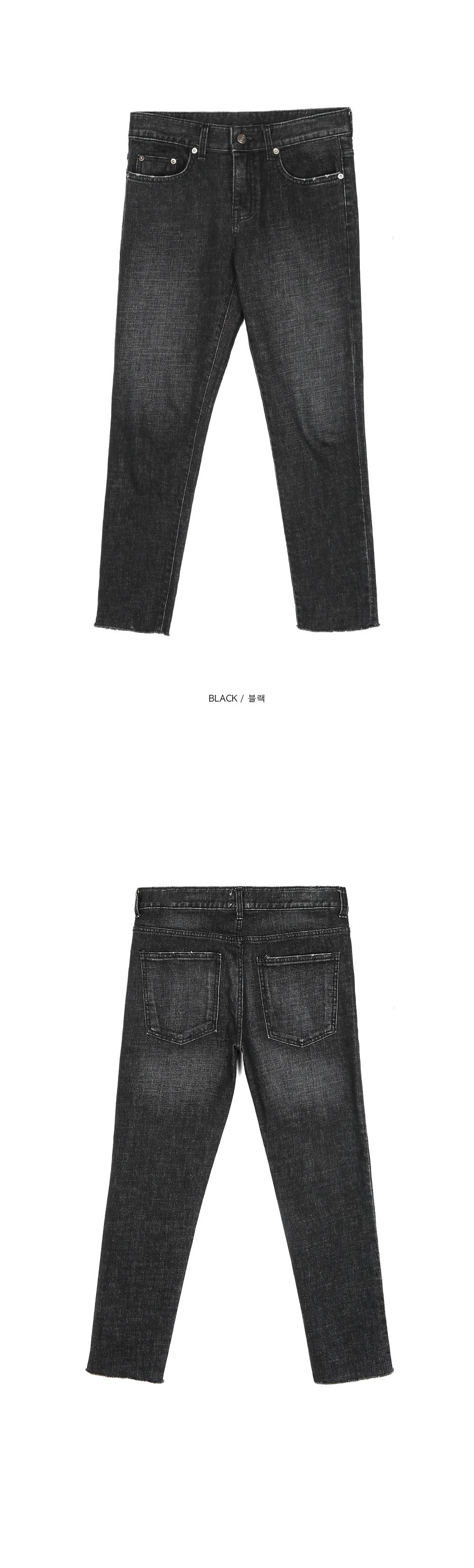 washed slim black jeans - UNISEX