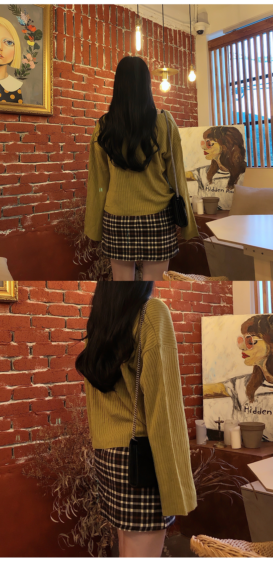 Knitted Navy + Ribbon Cardigan Set