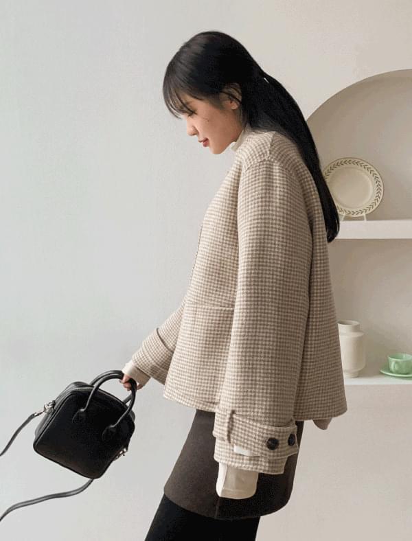hound check wool jacket [핸드메이드]하운드 체크 울자켓