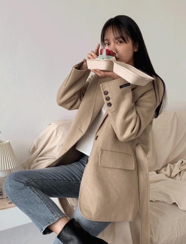 wool strap formal jacket [핸드메이드]누빔안감 스트랩 울자켓