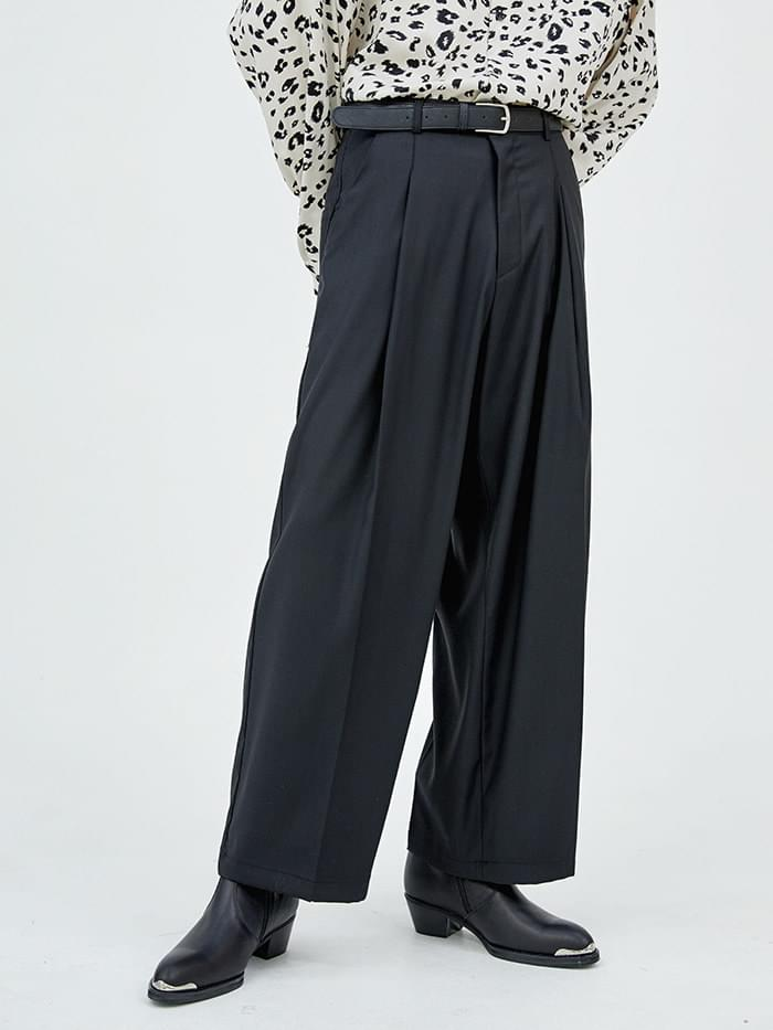 pintuck volume slacks - men