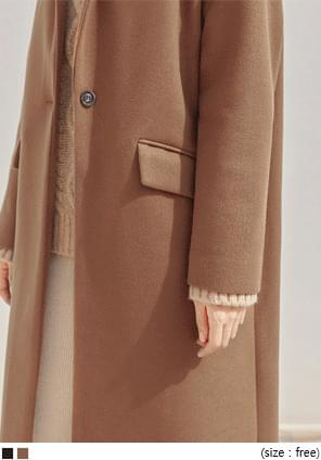 TOVER WOOL ONE BUTTON LONG COAT