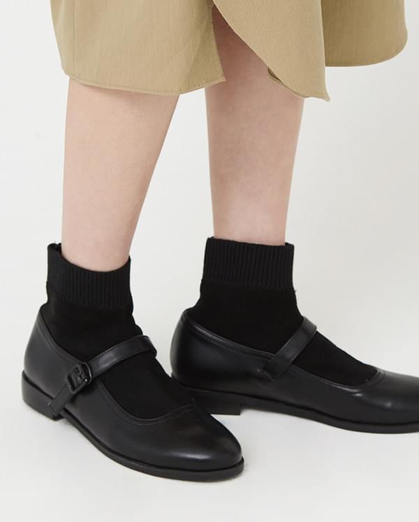 socks set flat shoes