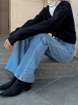 Bootcut sping denim long pants