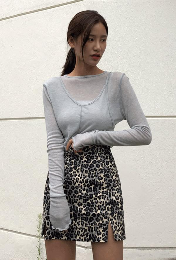 Tencel layered T-shirt