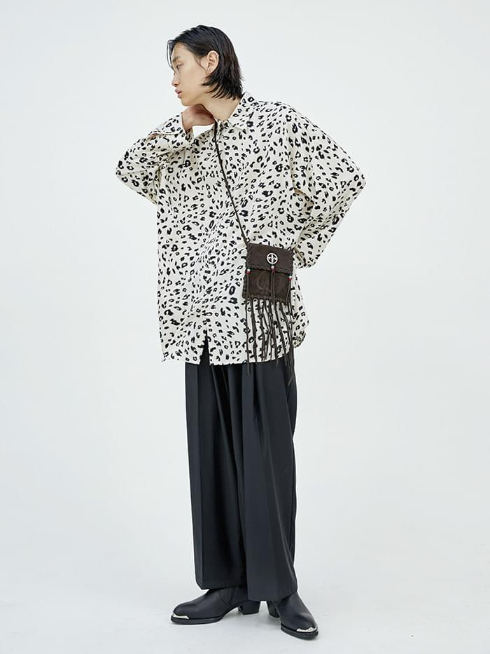 leopard long shirts - men