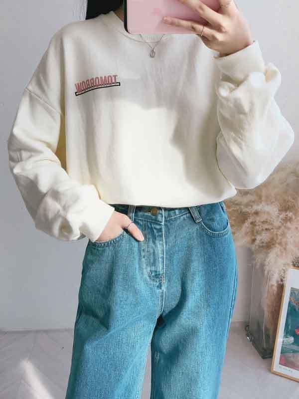 투모로우 레터링 맨투맨 티셔츠 (t0385)