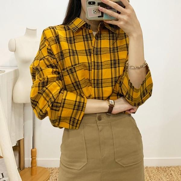 Zepley Overfit Check Shirt