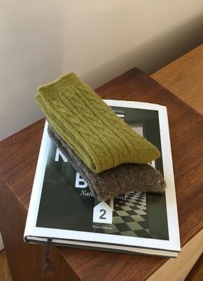 Wool twist sox