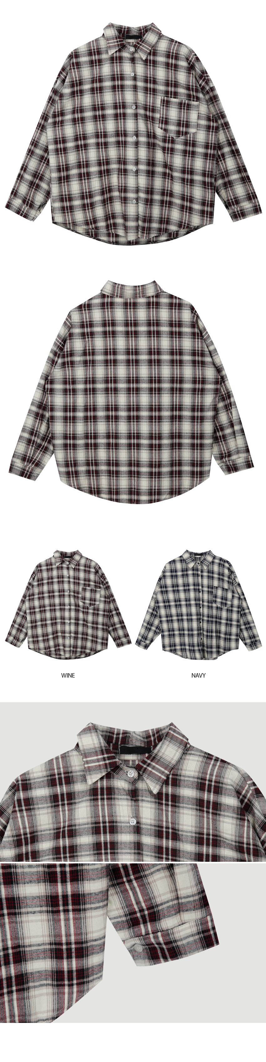 Cream check shirt