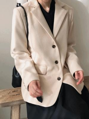 Wool Button Jacket