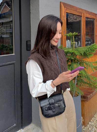 네슬리 조끼 knit (*3color)