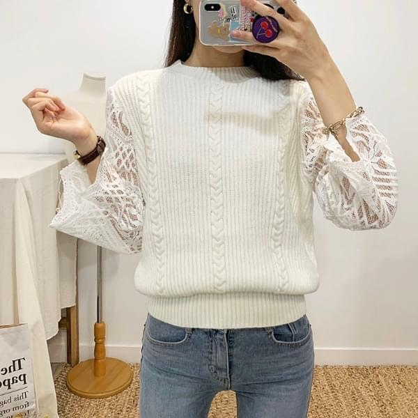 Loa Lace See-through Round Knit