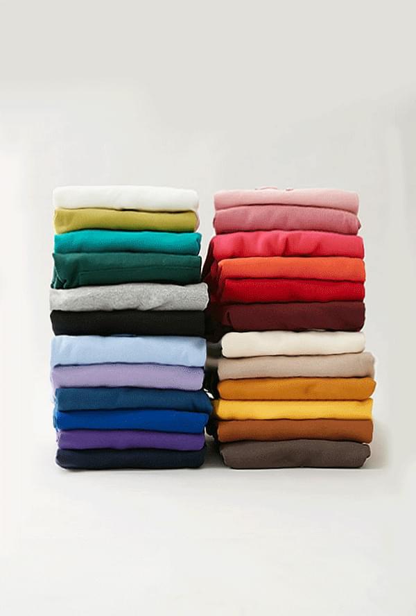 [기모안감] 데이 후드 티셔츠 (24color)