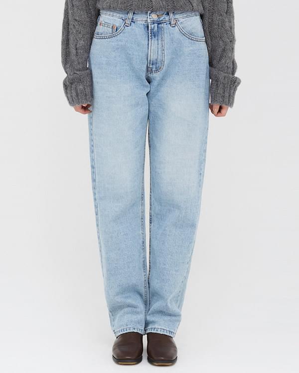 tension straight denim pants
