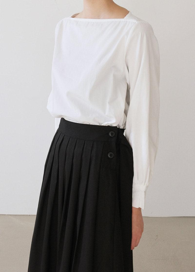 Cotton square blouse