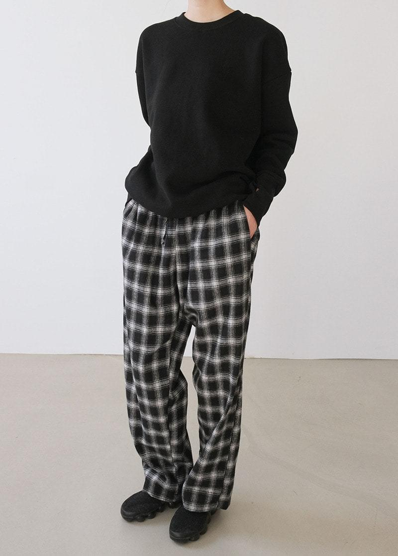 Natural Check Pants 長褲