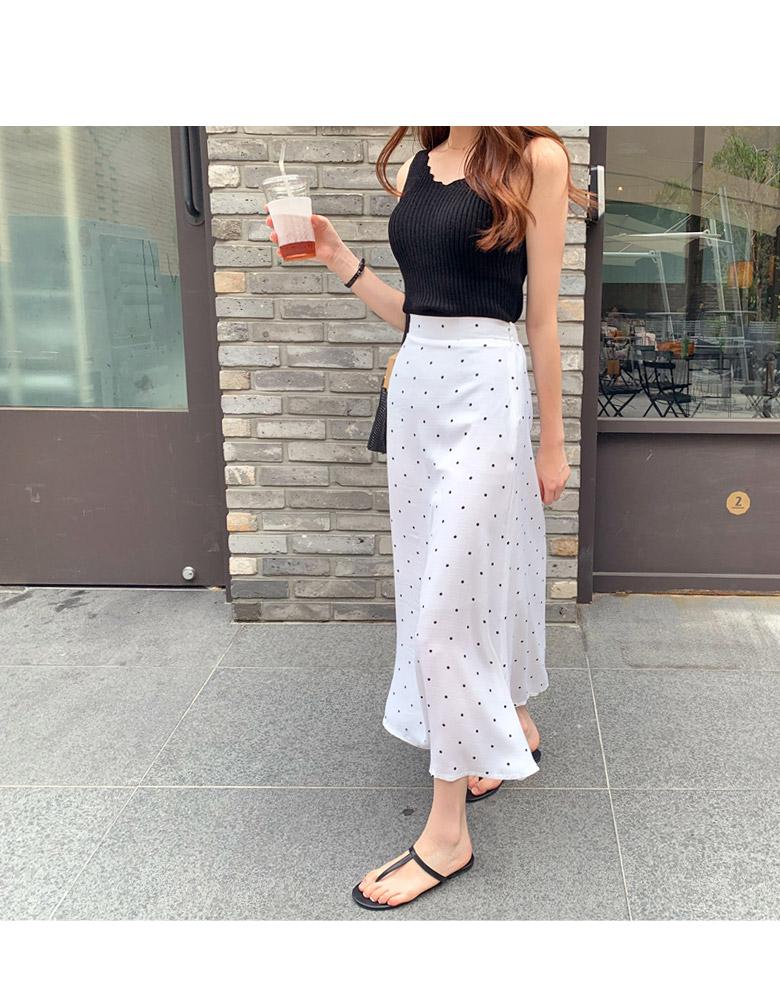 Lilian dot long skirt