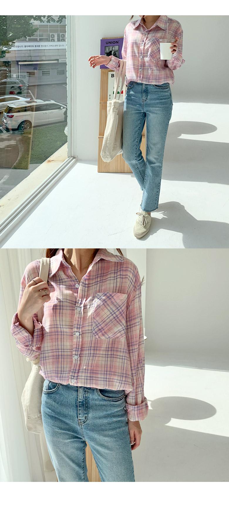 파슬리 체크 셔츠