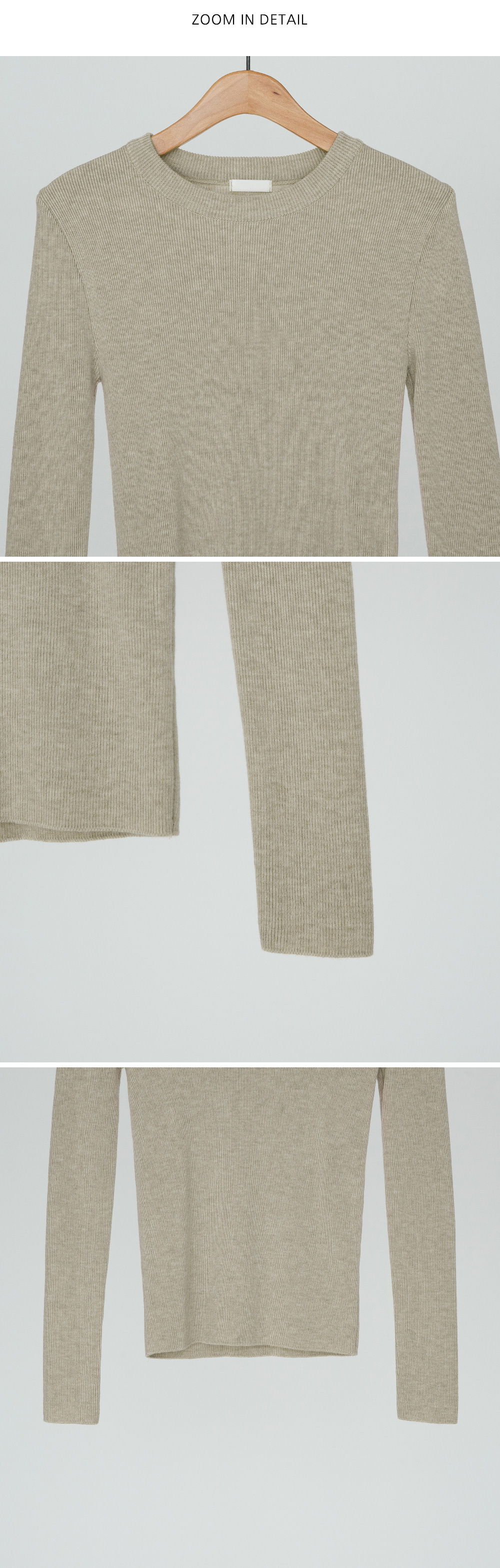 Daily Slim Fit Goal Knit Tee-knit