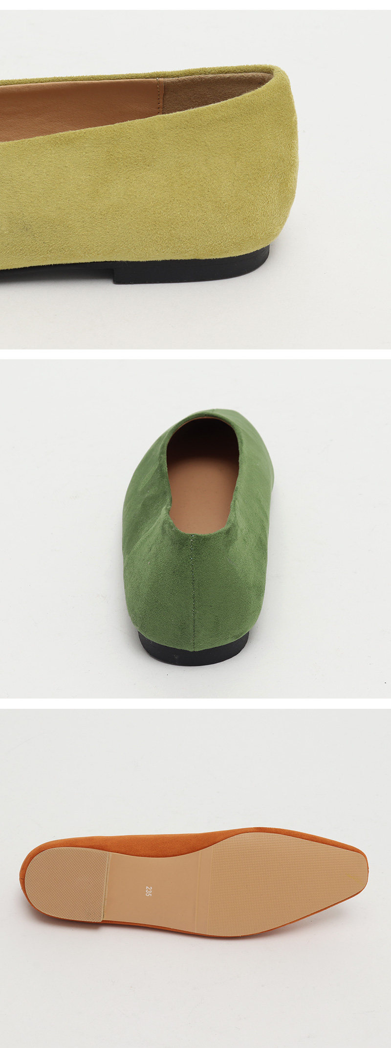 Lei suede flat shoes_J