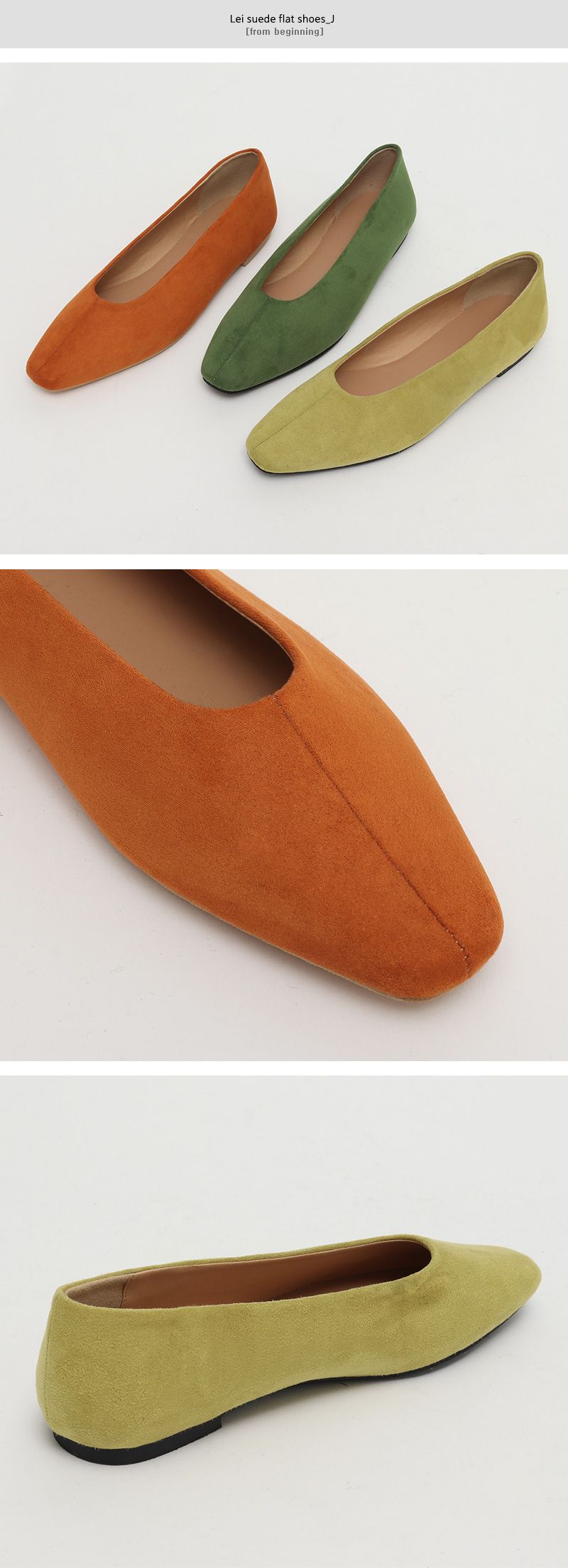 Lei suede flat shoes_J (size : 230,235,240,245,250)