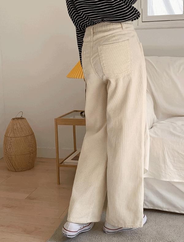 vintage corduroy pintuck pants