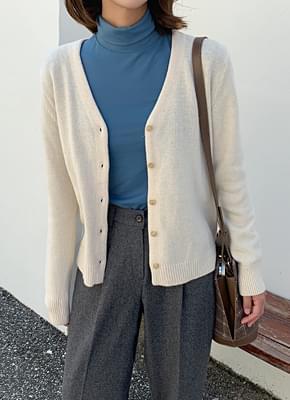 로아 브이넥 가디건 (4colors)