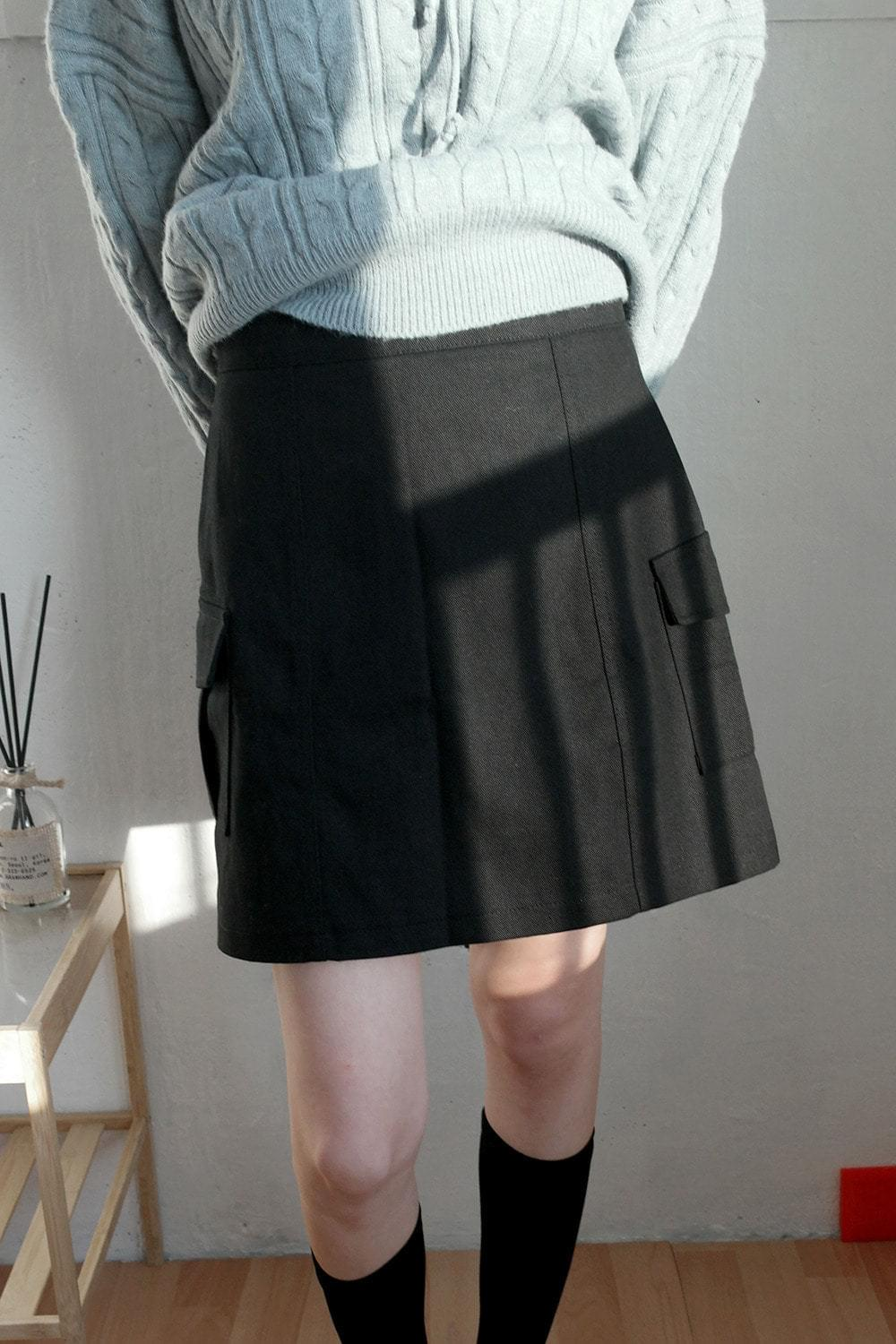 simple cargo mini skirts 裙子