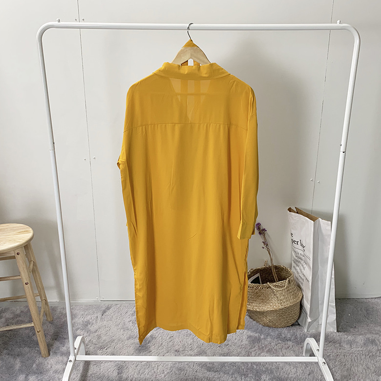 Eli Cara Belted Shirt Long Dress