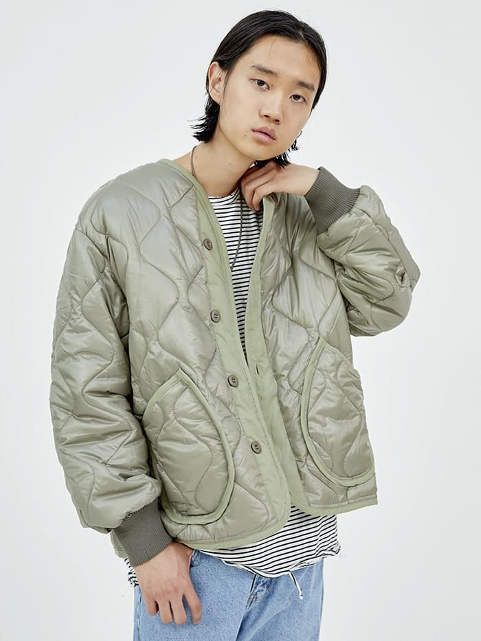 out pocket quilt jacket (2 color) - men