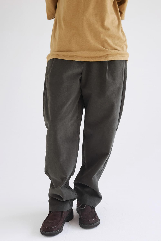 waist button detail wide pants