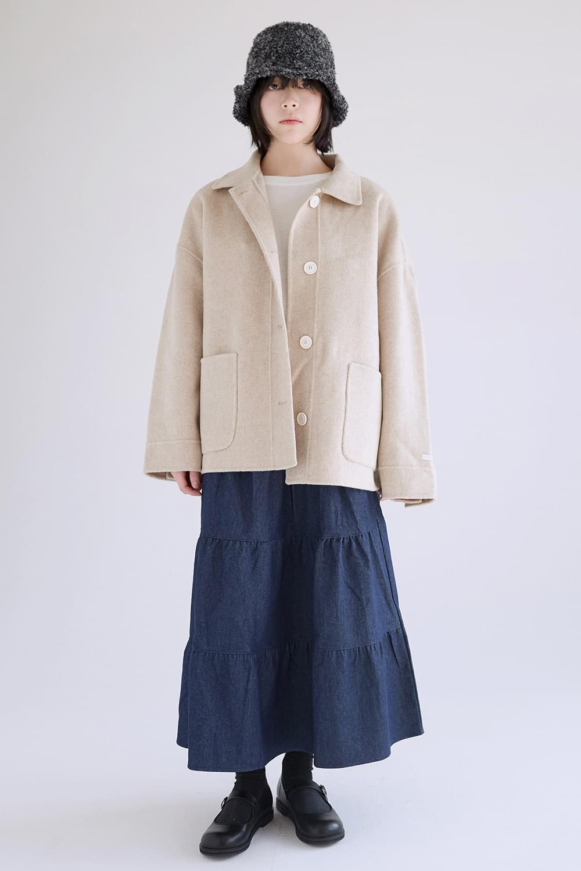 handmade wool midi coat
