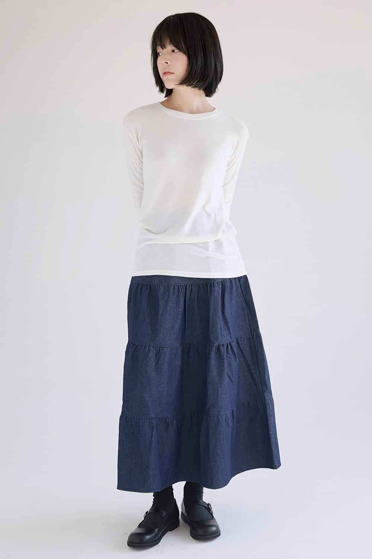 cancan denim crease skirts