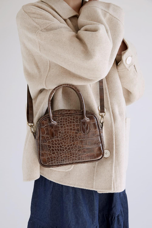 crack detail square bag