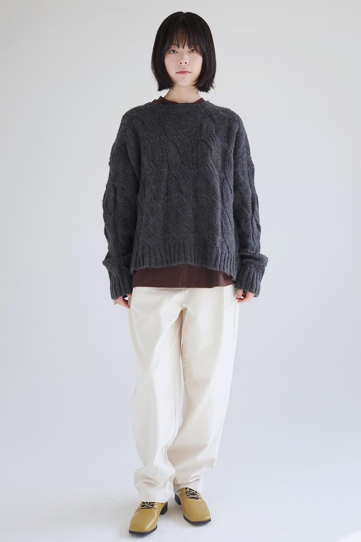 twist angora knit top