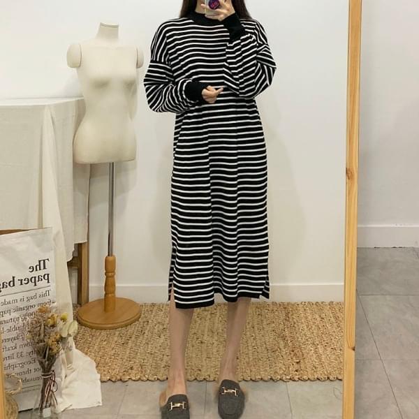 Betsy Striped Long Knit Dress