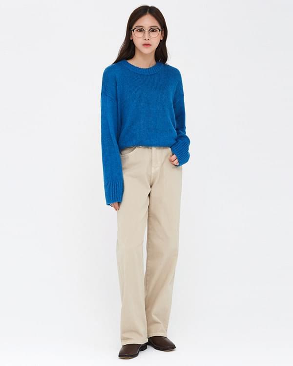 autumn straight cotton pants