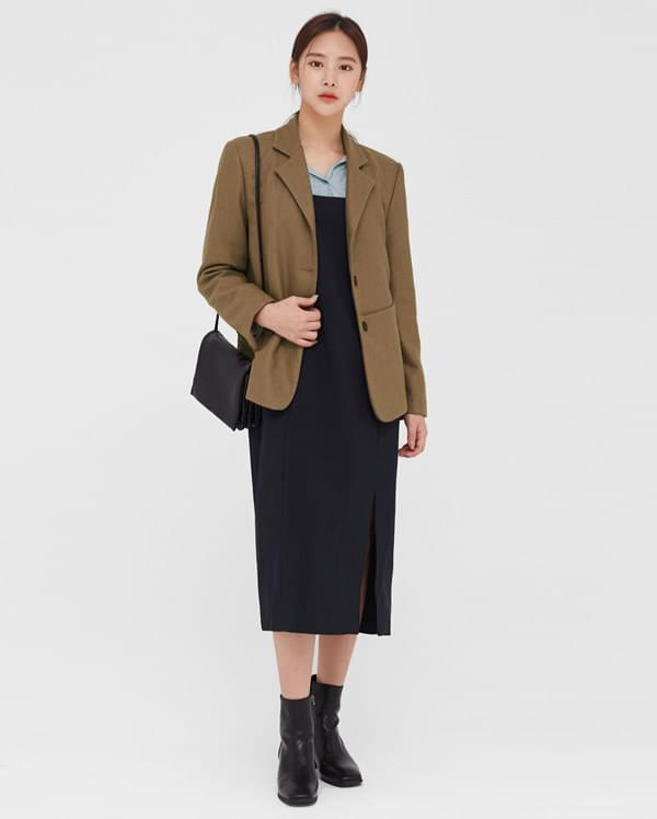 veil mono pocket wool jacket
