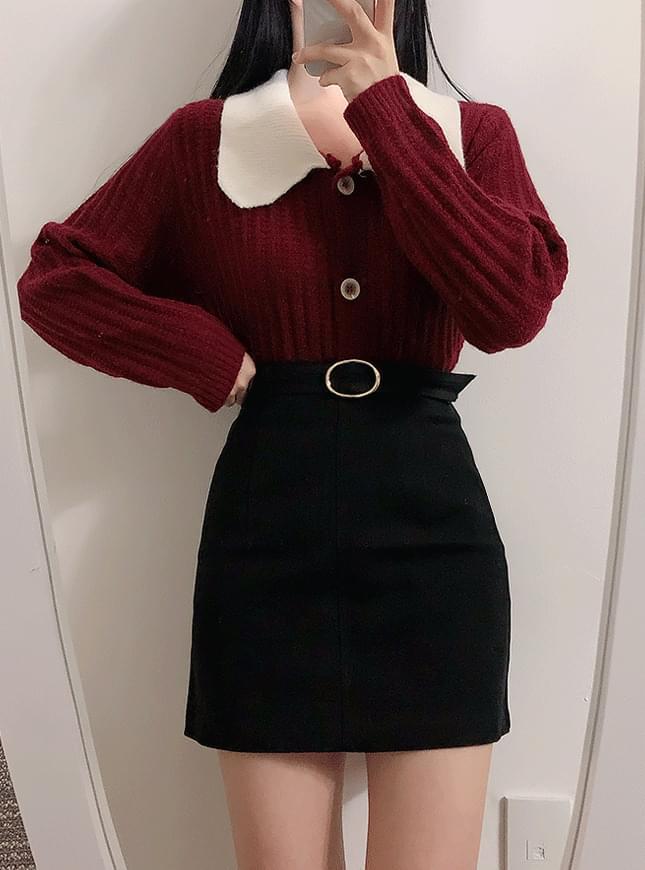 Die Belt Mini Skirt