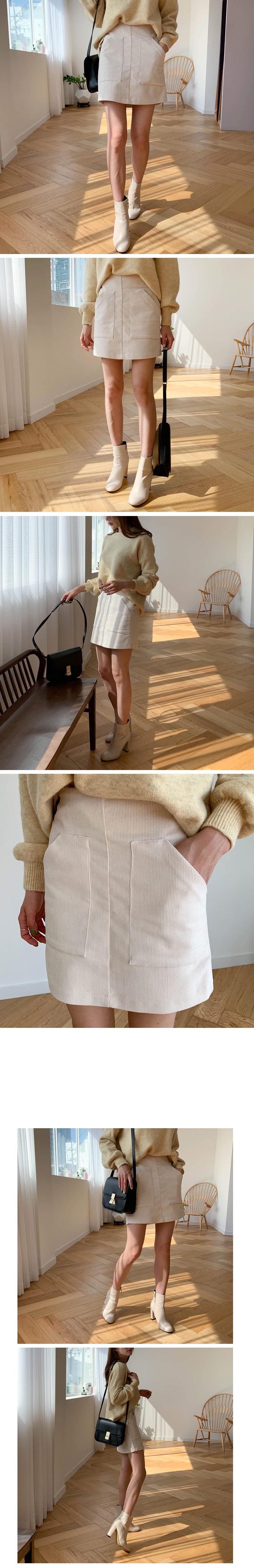 Bessa corduroy skirt