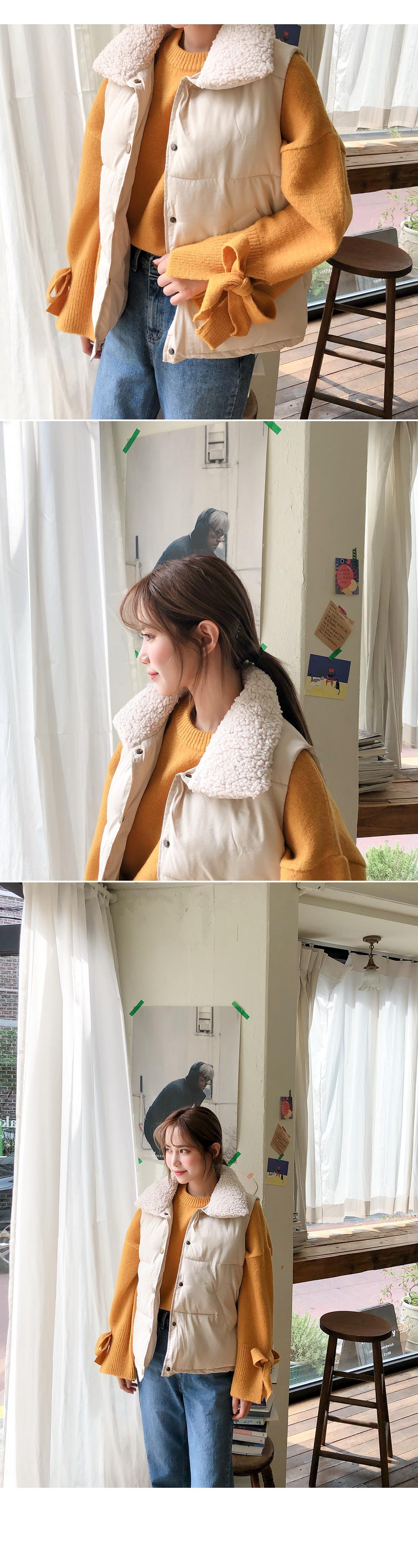 Round ribbon point knit