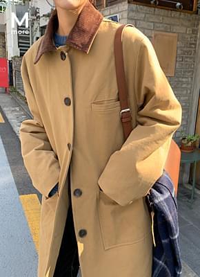 보이 누빔 안감 코트 (2colors)