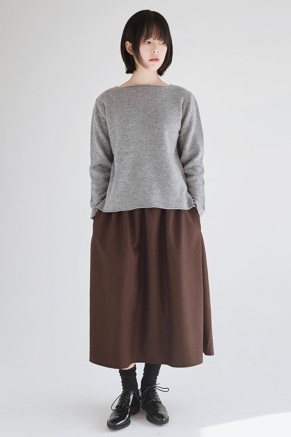 flare a-line wool skirts (2colors)