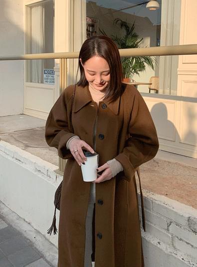 헨느 롱 핸드메이드 coat (*3color)