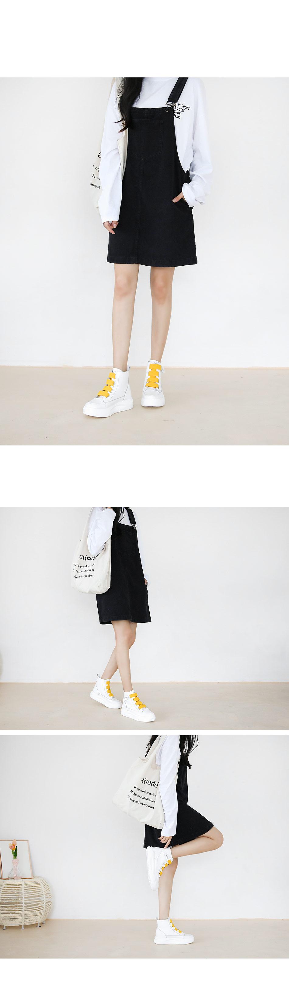 Epines High Top Velcro Sneaker 4cm